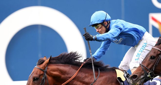 Farhh wins the Champion Stakes at Ascot