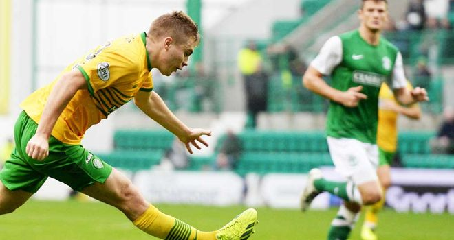James Forrest: Curls home the equaliser for Celtic