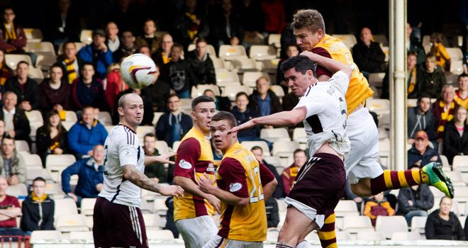 Shaun Hutchinson: Heads home the Motherwell winner