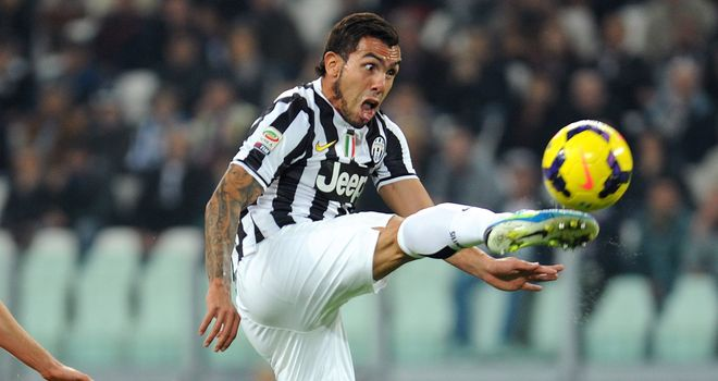 Carlos Tevez in action for Juventus