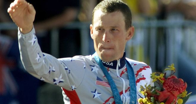 Lance Armstrong: Was stripped of the bronze medal he won at Sydney 2000