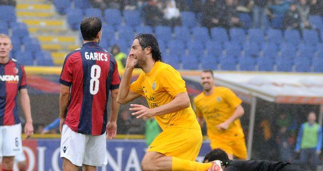 Luca Toni helped Verona claim an impressive victory