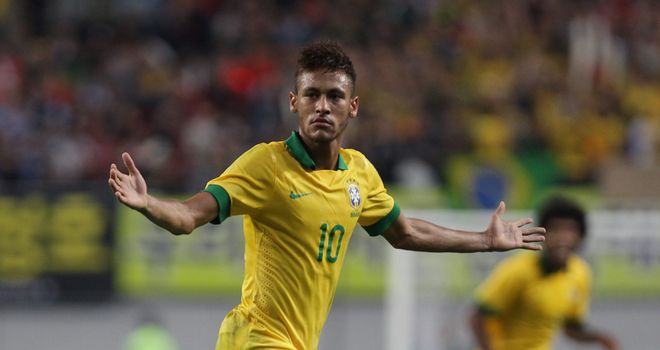 Neymar: Brazil forward scored from a free-kick in victory over South Korea