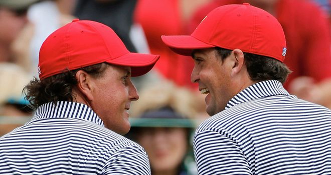 Phil Mickelson and Keegan Bradley: Went to the turn in just 30