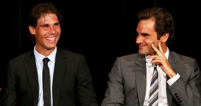 Nadal (left) thinks Federer can contend at the Australian Open