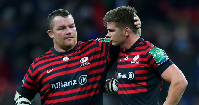 Saracens: Narrowly lost out at Wembley on Friday night