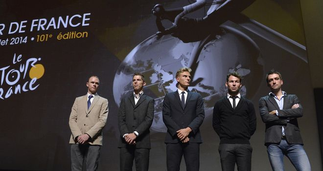 The sport's biggest stars were in attendance for the 2014 Tour de France route presentation