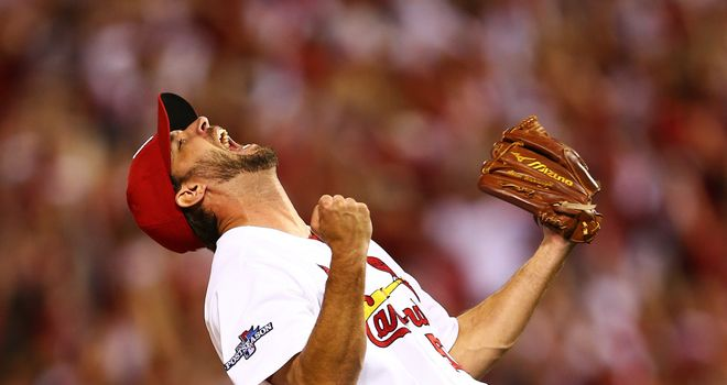 Adam Wainwright: Celebrates his complete game