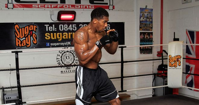 Anthony Joshua is in great shape for his professional debut (Pic Lawrence Lustig)