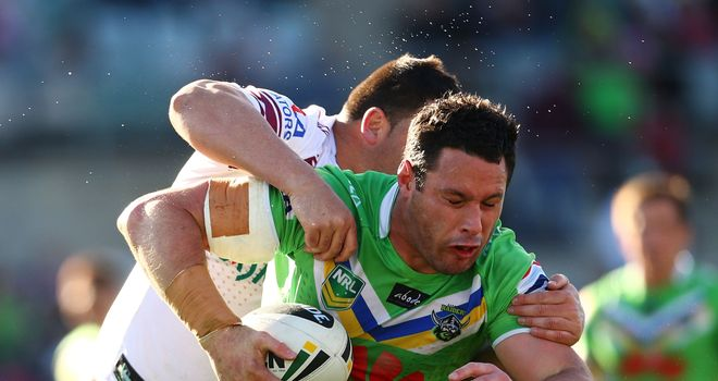 Brett White in action for Canberra Raiders in NRL