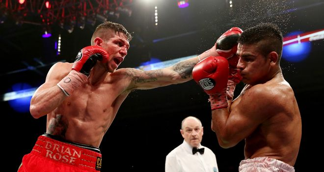 Brian Rose: Got the nod from the judges at the Motorpoint Arena in Sheffield