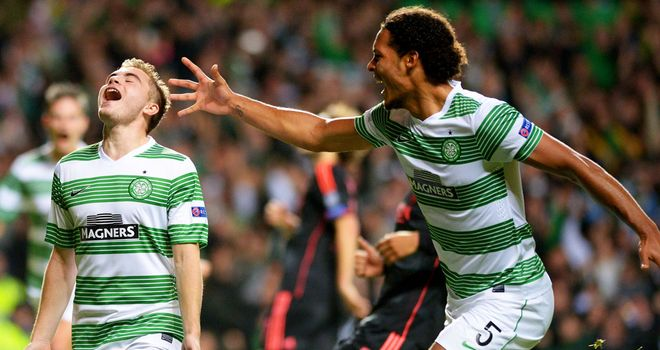 Celtic got their first points in Group H with 2-1 win over Ajax