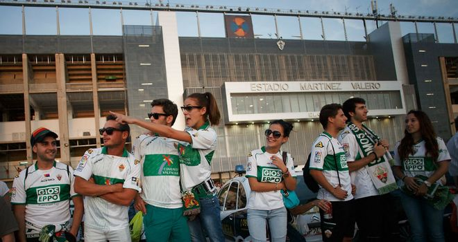 Elche supporters celebrated a 2-0 win