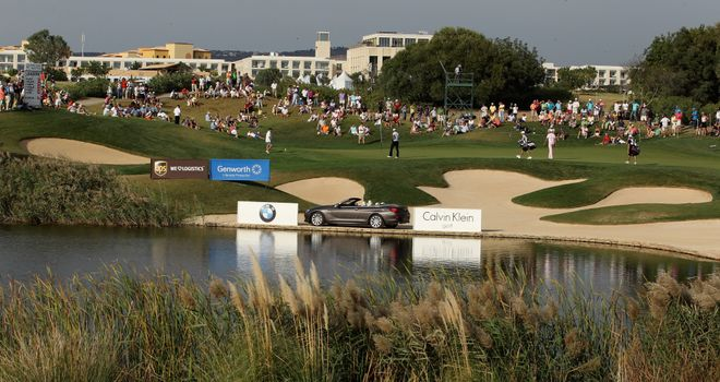 The 13th green at Oceanico Victoria Golf Course in Vilamoura