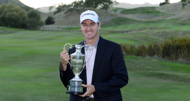 Jimmy Walker celebrates his maiden Tour title