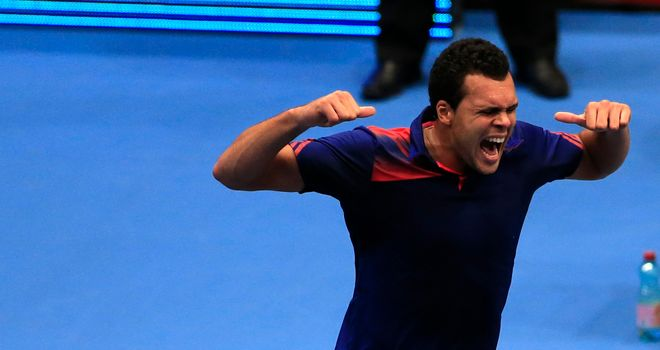 Jo-Wilfried Tsonga: The top seed had to battle hard to reach the semi-finals in Vienna