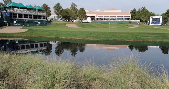 A general view of the 18th hole at TPC Summerlin