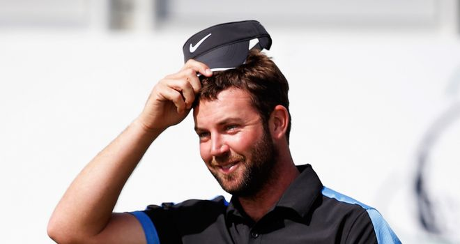 Scott Jamieson smiles after he just misses out on historic round of 59
