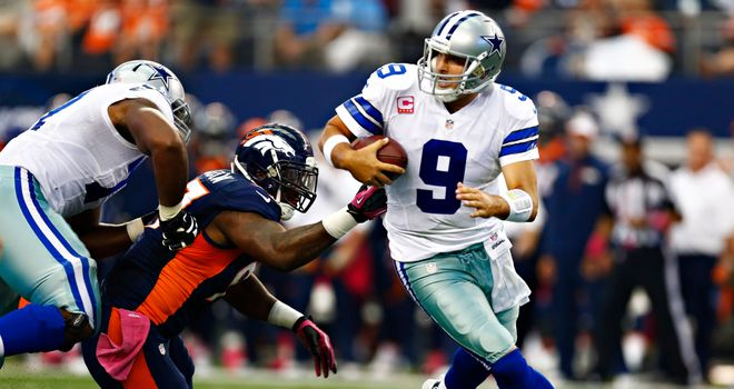 Tony Romo: Threw for 506 yards and five touchdowns but tossed late pick