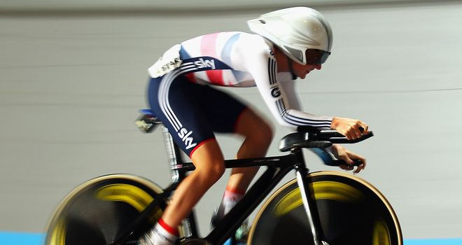 Laura Trott claimed the European omnium title for the second time