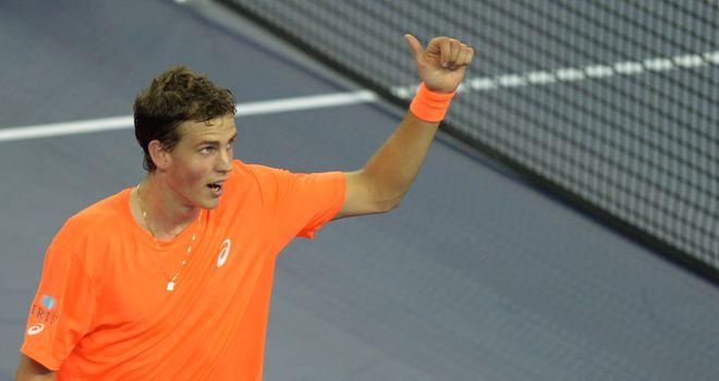 Vasek Pospisil: Had too much for Lleyton Hewitt at Erste Bank Open