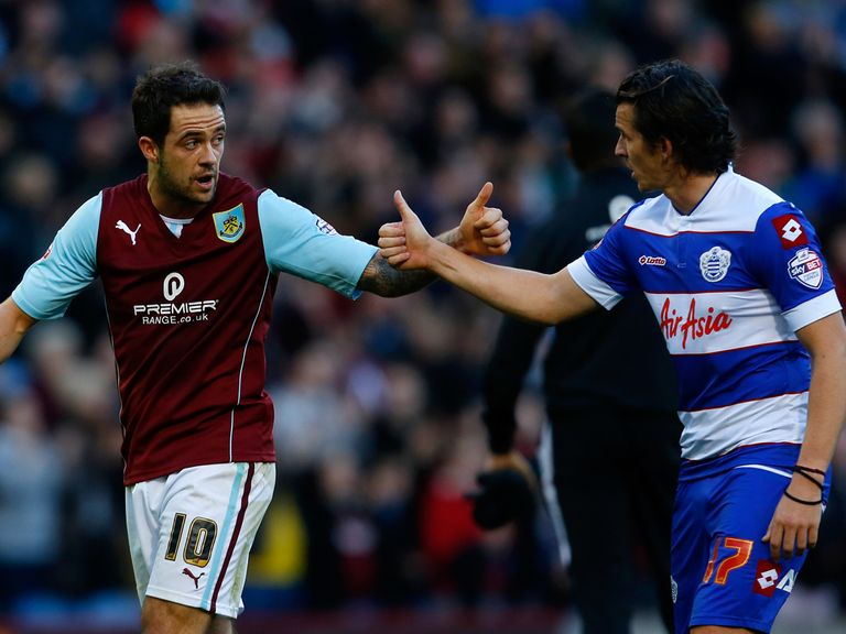 Danny Ings scored both goals in Burnley's 2-0 win over QPR.