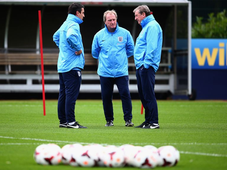 England manager Roy Hodgson with coaching staff