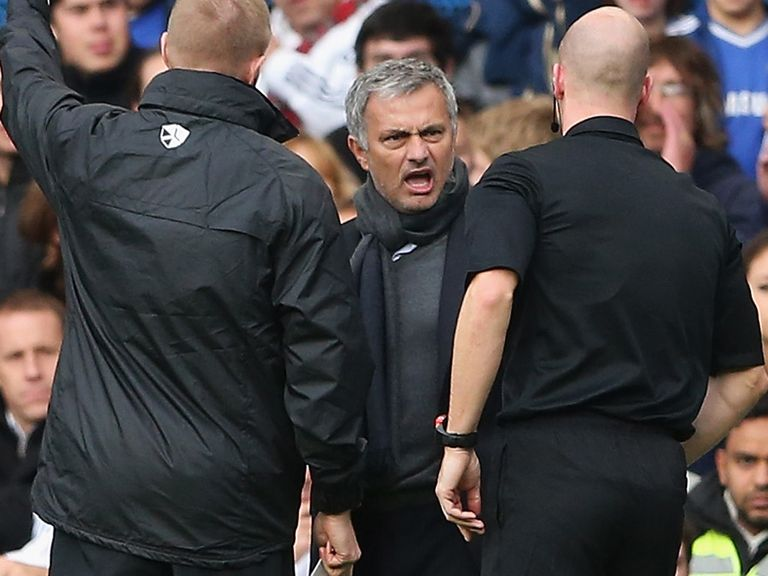 Jose Mourinho was charged over this incident at Stamford Bridge