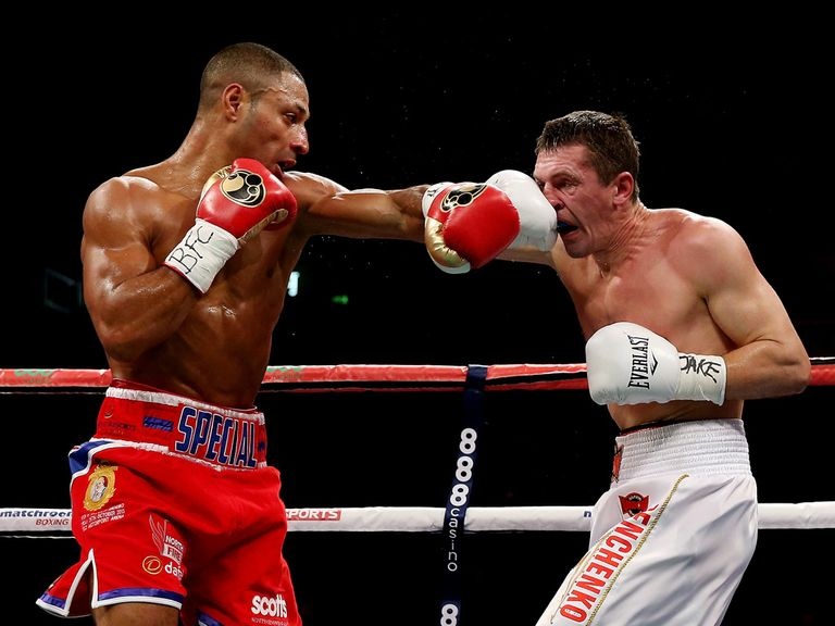 Kell Brook (left): Victorious in four rounds