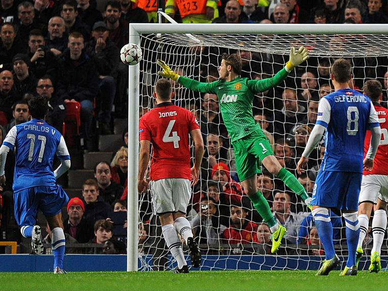 A Greizmann strike hits the United bar in the Old Trafford game - can they find the net this time?