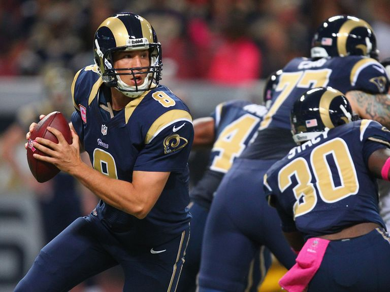 Sam Bradford: Three TD passes for the Rams