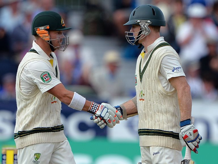 Warner (l) and Rogers: Opened together in final two Ashes Tests