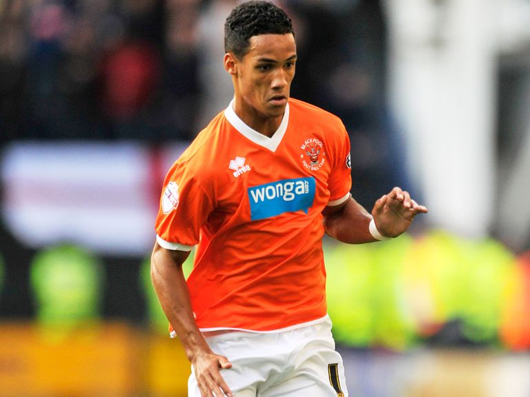 Thomas Ince: Set to leave Blackpool on loan