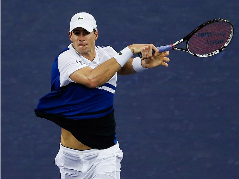 John Isner: Blasted 29 aces in his hard-fought victory over Giraldo