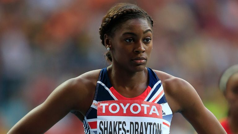 Perri Shakes-Drayton: British athlete rehabbing serious knee injury