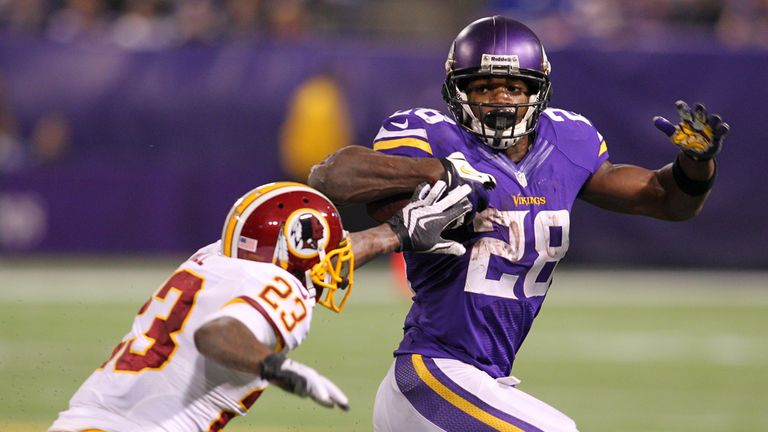 Adrian Peterson: Can carry the Vikings on hsi back when at his very best