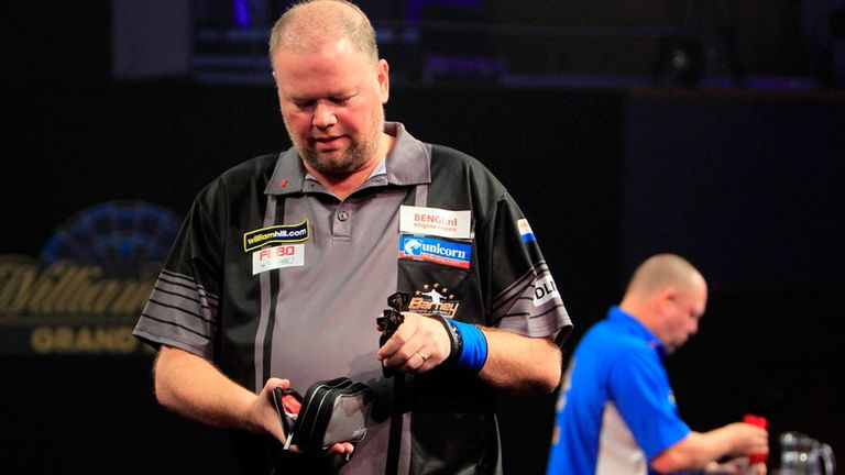 Raymond van Barneveld: Defending champion exited the Grand Slam of Darts on Monday