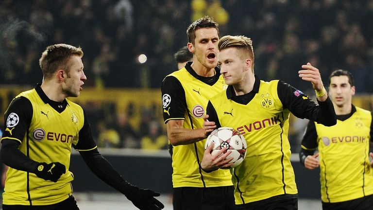 Marco Reus: Celebrates his opener from the penalty spot