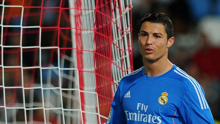 Cristiano Ronaldo celebrates his goal for Real Madrid