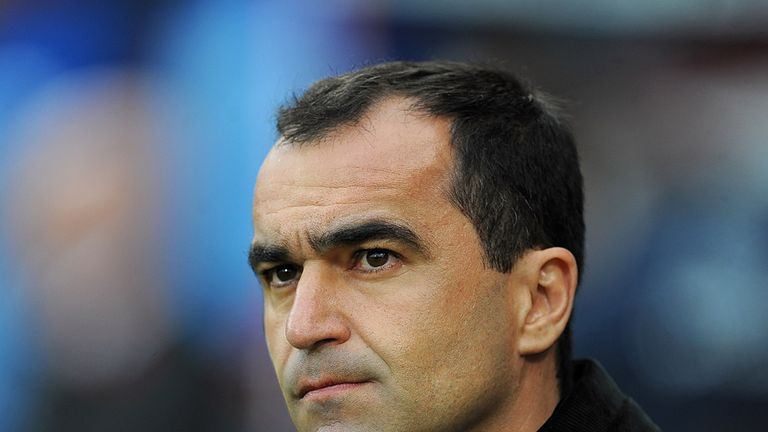 Roberto Martinez: The Everton boss was frustrated following his side's 0-0 draw at Crystal Palace