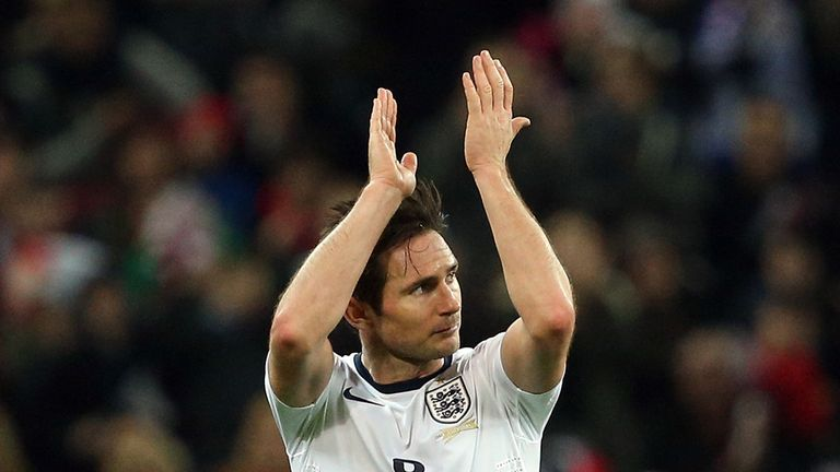 Frank Lampard: Applauds England fans after loss to Chile