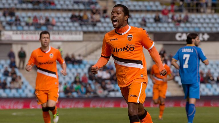 Dorlan Pabon celebrates his winner.
