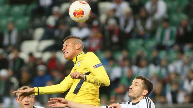 Brayan Perea: Scores for Lazio against Legia Warsaw