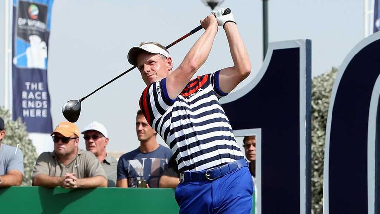 Luke Donald: Eight birdies lifted him into contention in Dubai