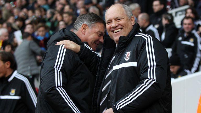 Sam Allardyce with former Fulham boss Martin Jol