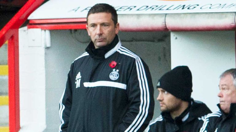 Derek McInnes: Aberdeen boss endured a frustrating day against Hearts