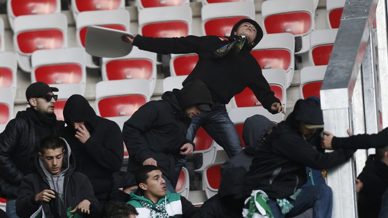 St Etienne fans: Ejected from stadium