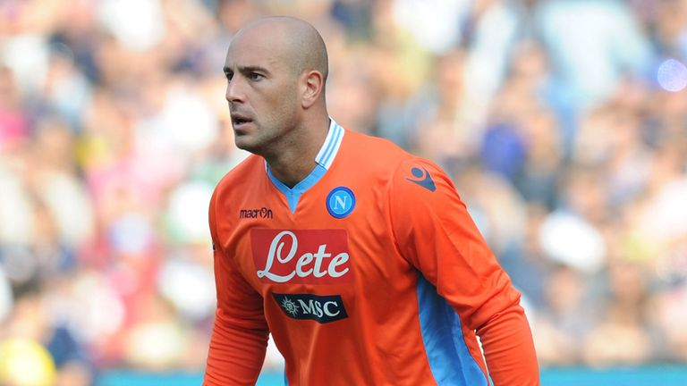 Pepe Reina: Liverpool goalkeeper has spent the 2013/14 season on loan at Napoli
