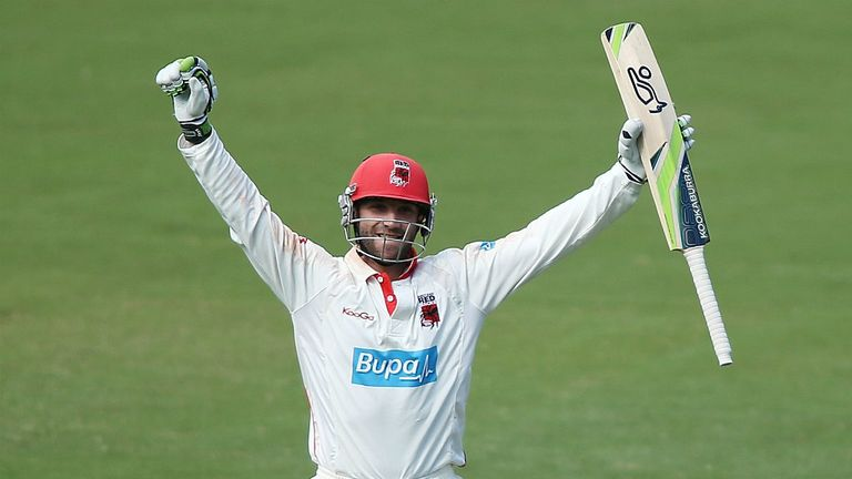 Phil Hughes: Double hundred for South Australia