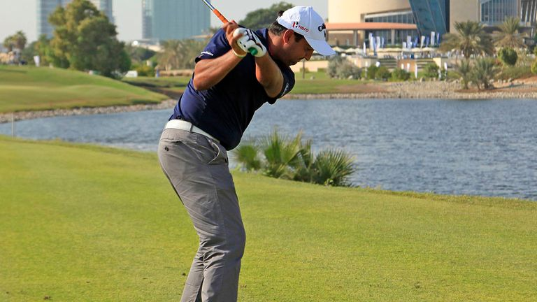 Shiv Kapur during his final round in Dubai on Sunday
